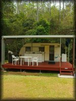twin falls naturist chaket - on site van for your next nudist holiday
